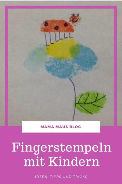 Fingerstempeln mit Kindern - Ideen, Tipps und Tricks für individuelle Kunstwerke