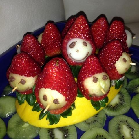 Obstplatte zum Kindergeburtstag