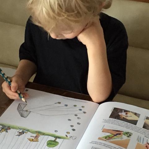 Die ersten (richtigen) Hausaufgaben des Kuschelbärs