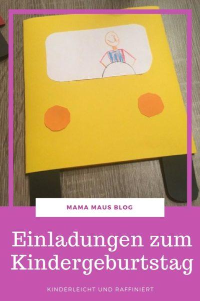 DIY Einladungskarten zum Kindergeburtstag - Kinderleichte Anleitung für LKW Einladungen zum Kindergeburtstag - Hinter den Türen des Laderaum versteckt sich sehr raffiniert der Einladungstext