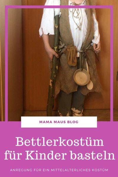 Bettler Kostüm für Kinder - Mittelalterliches Kostüm basteln