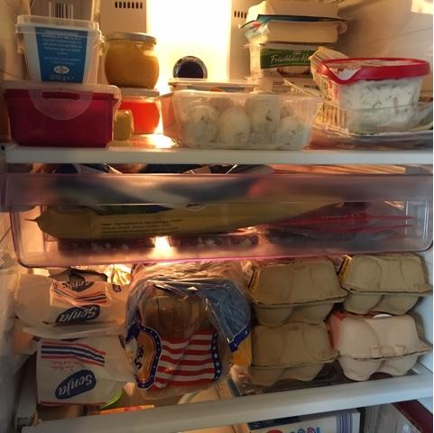 Liebling der Kühlschrank ist leer