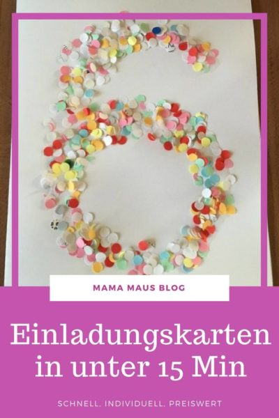 Super Schnelle Einladungskarten zum 6. Geburtstag der Kaisermotte - Mama SS36