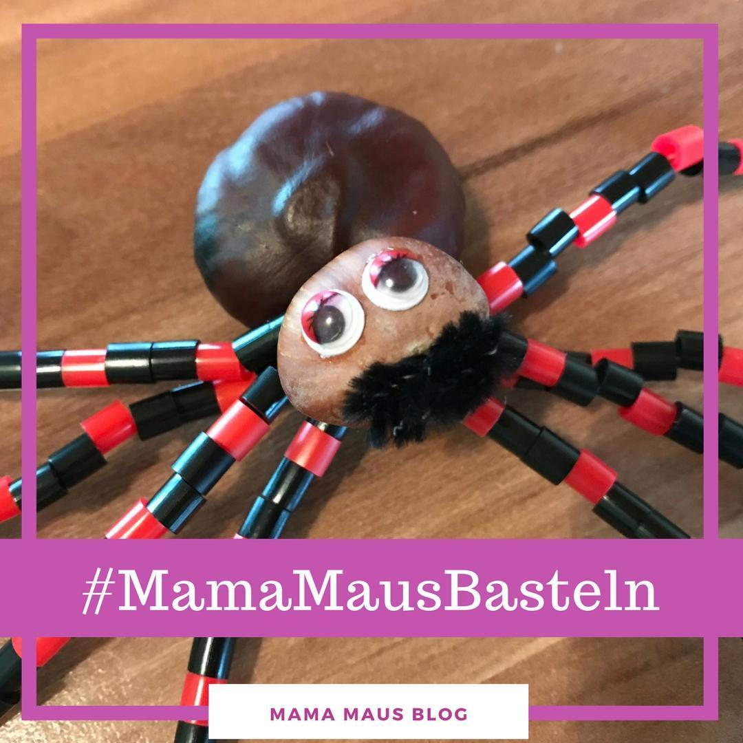 #MamaMausBasteln für Kinder – Halloween – Spinne Herbert