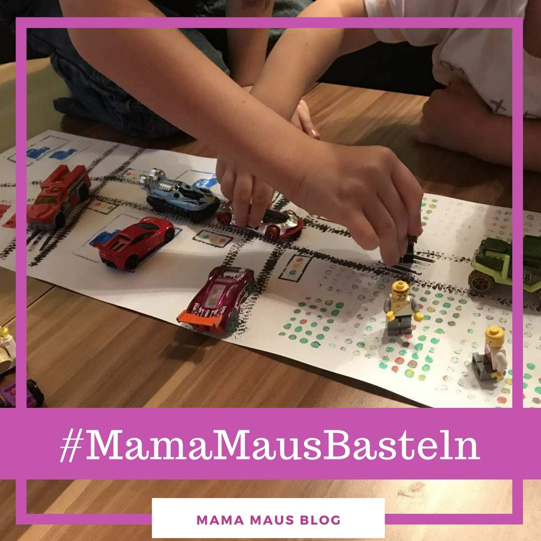 #MamaMausBasteln für Kinder – Stempeln – Spiellandschaft mit Lego stempeln