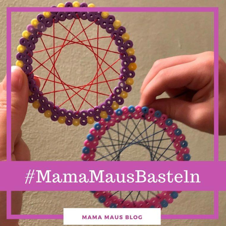 #MamaMausBasteln für Kinder – Weihnachtsbaumanhänger – Weihnachtliche Bügelperlenanhänger