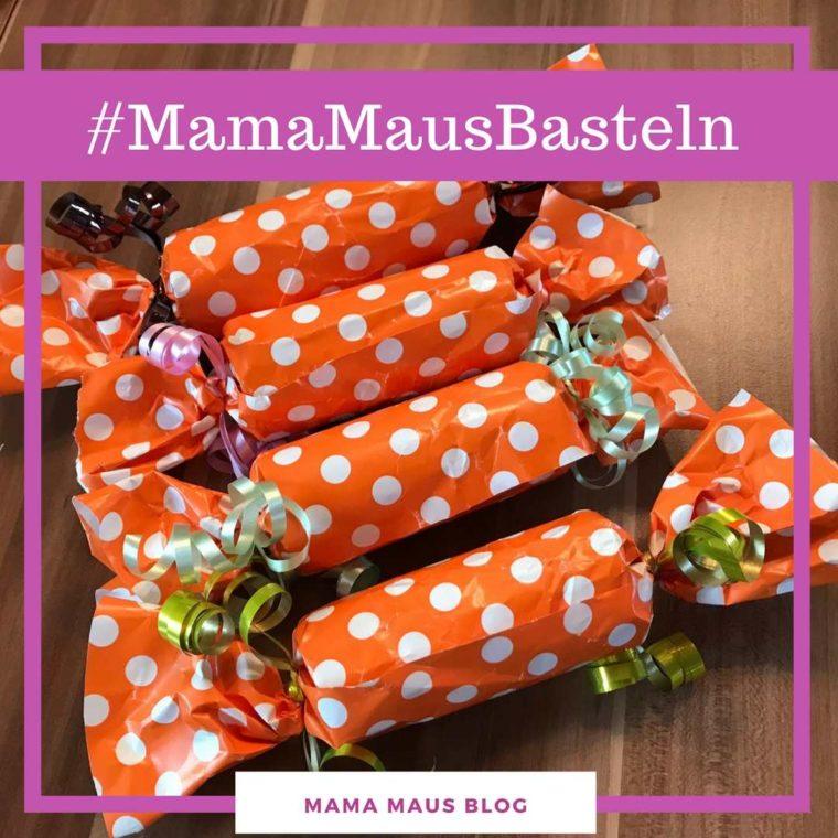 #MamaMausBasteln für Kinder – Silvester – Upcycling-Knallbonbons