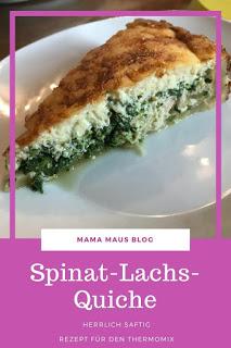 Spinat-Lachs-Quiche - Rezept für Thermomix