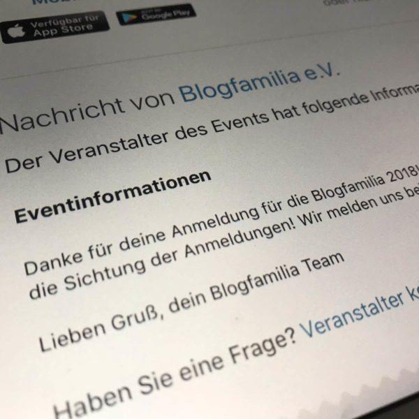 Anmeldung für die Blogfamilia