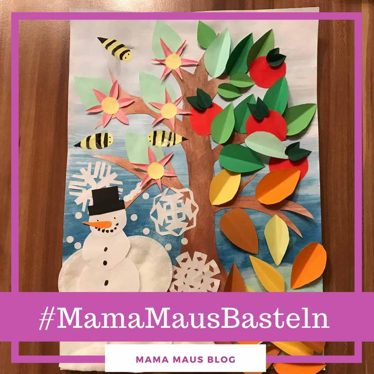 #MamaMausBasteln für Kinder – Jahreszeiten – Jahreszeitenbaum