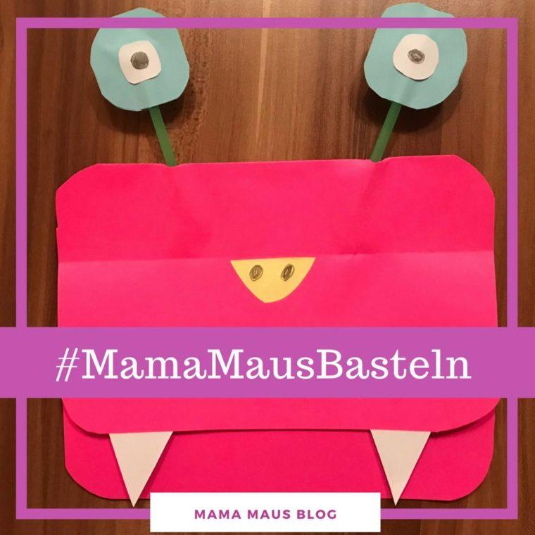 #MamaMausBasteln für Kinder – Geburtstagseinladung – Monster