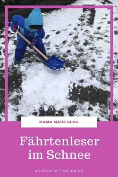 Ausflug mit Kleinkind in den Schnee