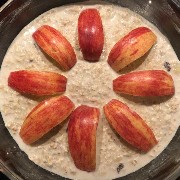 Backed Oatmeal mit Äpfeln