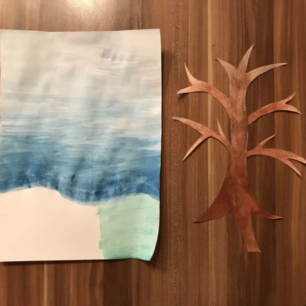Baum bemalen