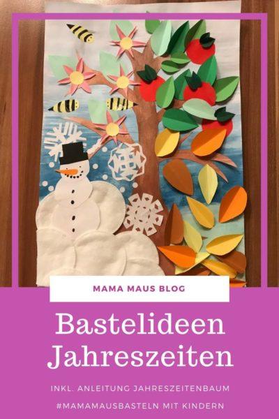 Jahreszeitenbaum mit Kindern basteln #MamaMausBasteln