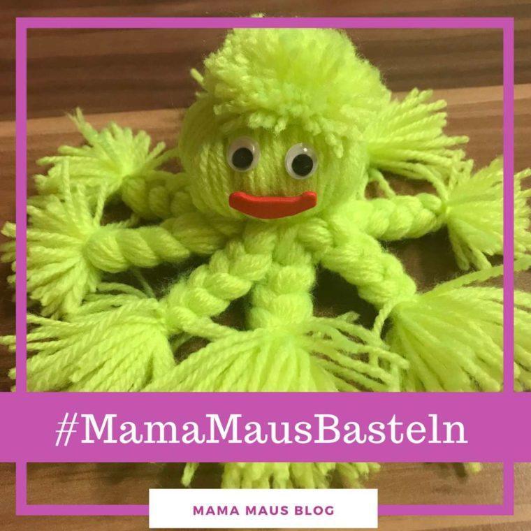 #MamaMausBasteln für Kinder – Wolle – Otto Oktopus