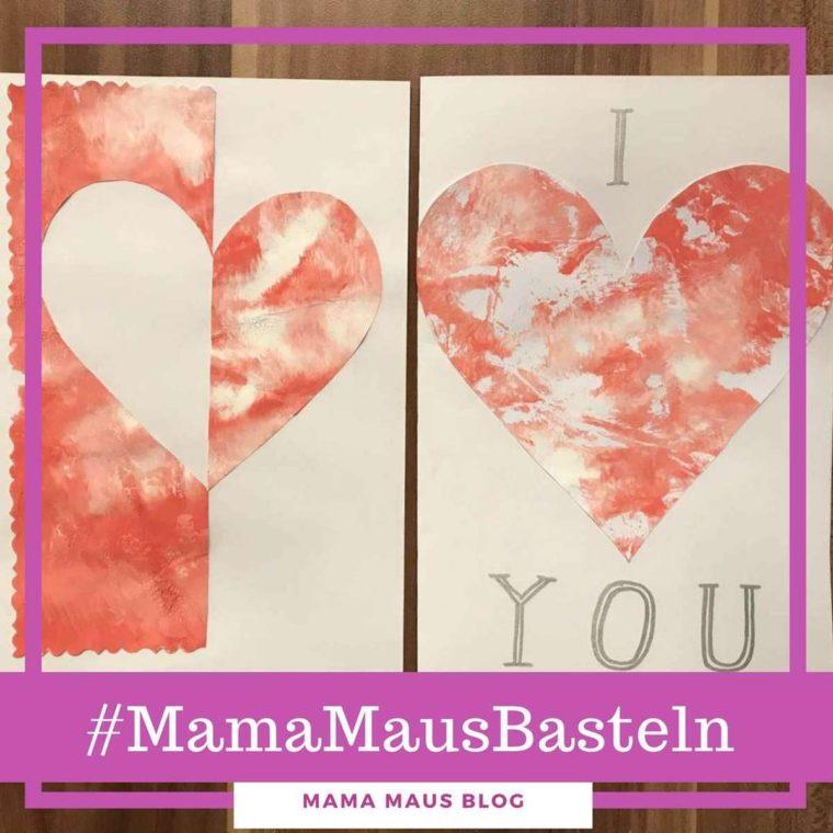 #MamaMausBasteln für Kinder – Valentinstag – Karte mit Herz