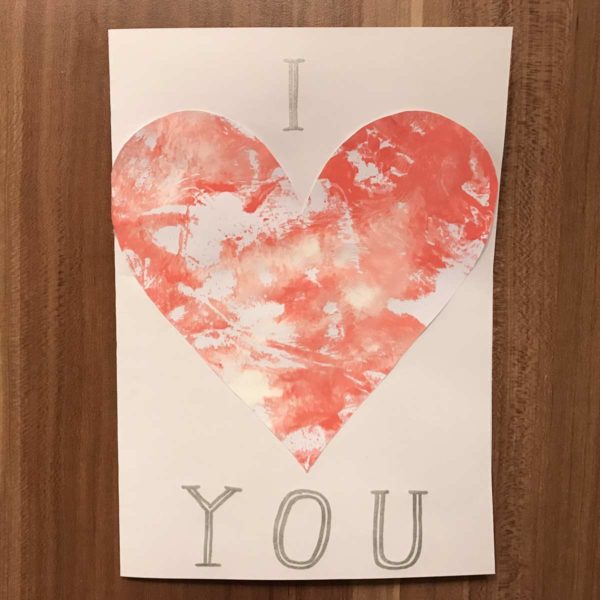 Karte für Valentinstag - I love you