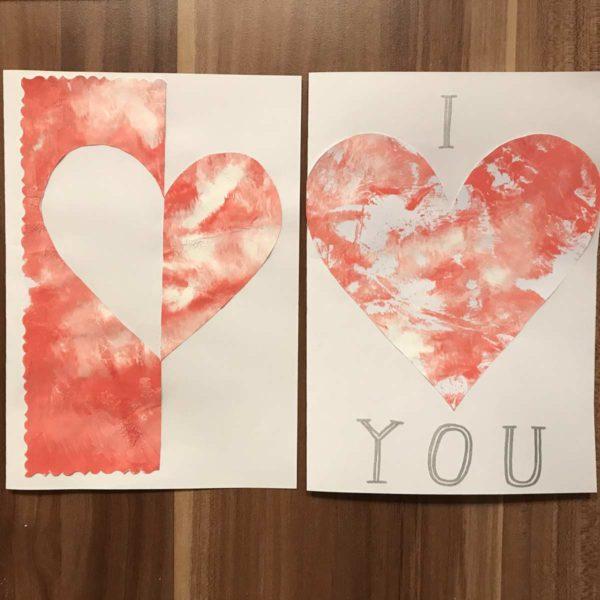 Valentinskarte - Karte mit Herz