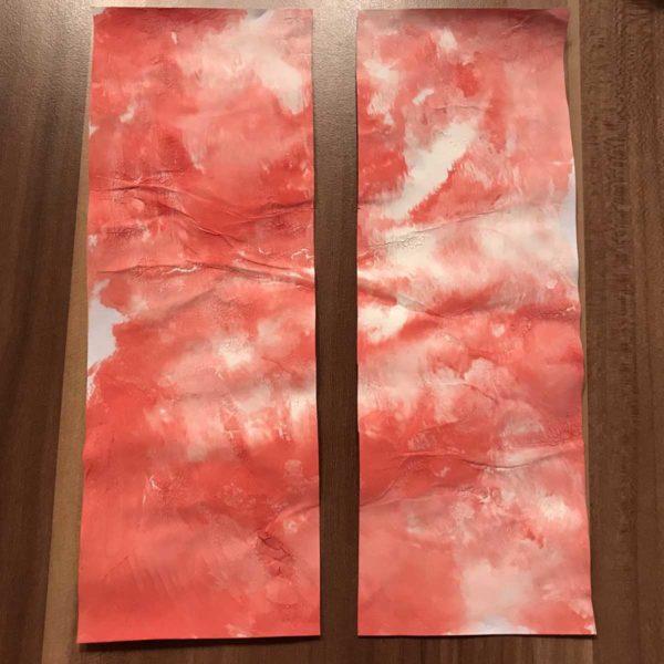 Karte für Valentinstag - marmoriertes Blatt