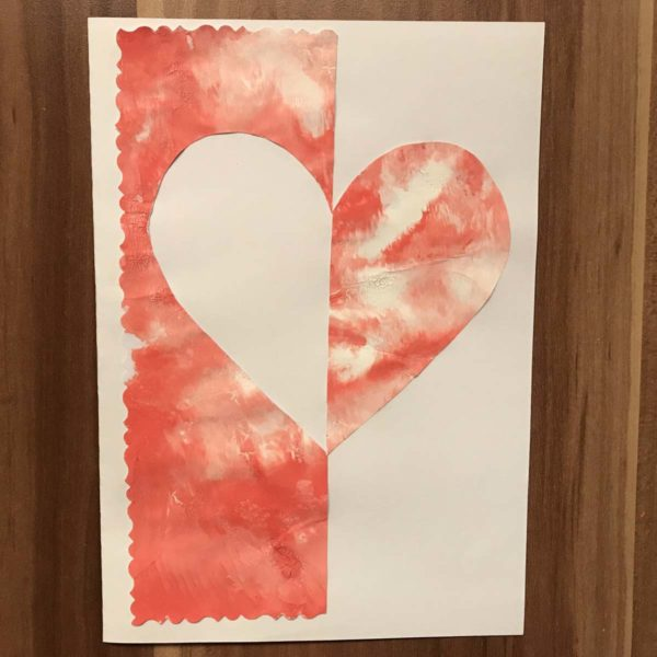 Karte für Valentinstag - mit Herz