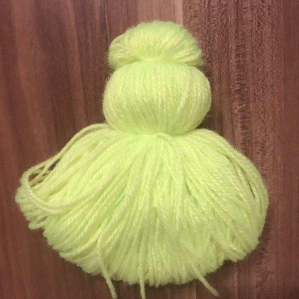 Wolle zusammen binden