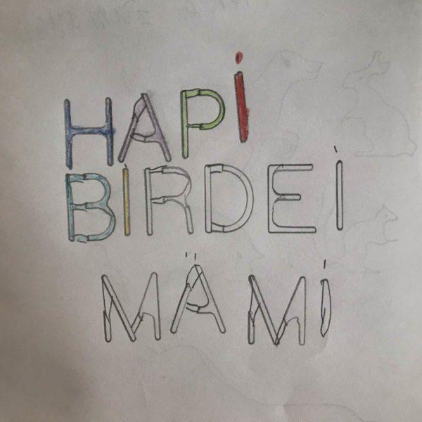Geburtstagskarte vom Kind