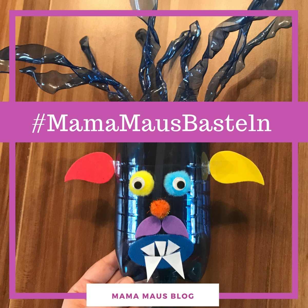 #MamaMausBasteln für Kinder – Monster – Aufbewahrung aus Plastikflaschen