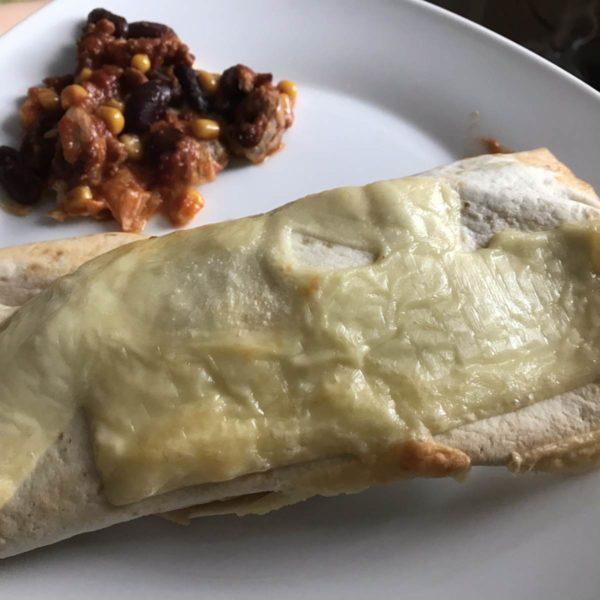 Enchilada mit Chili