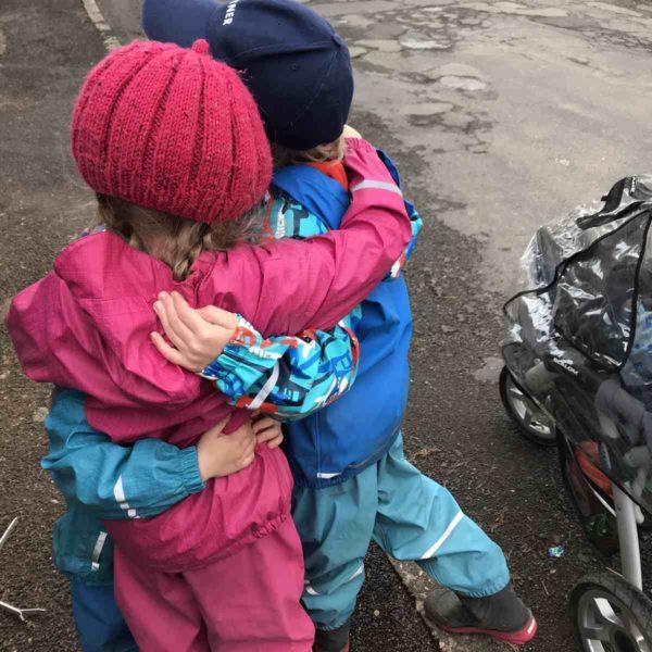Spaziergang mit Kindern