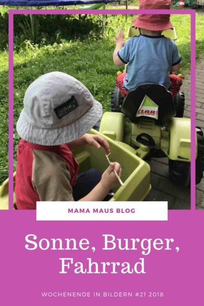Wochenende in Bildern aus der Großfamilie - 21 2018 - Ein Wochenende voller Sonnenschein, viel Zeit im Garten, Fahrradtouren und leckeren Burgern. #WiB #LebenmitKindern