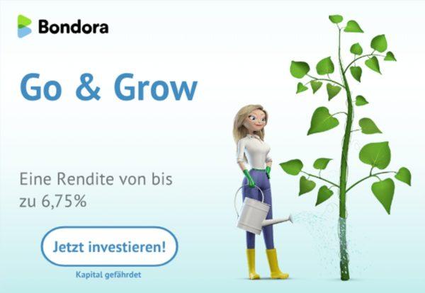 Bondora Grow & Go mit bis zu 6,75 Rendite