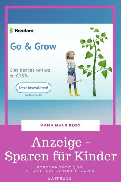 Anzeige - Sparen für Kinder mit Bondora Grow & Go - flexibel und rentabel sparen auch für Einsteiger #Werbung #Sparen #Kinder