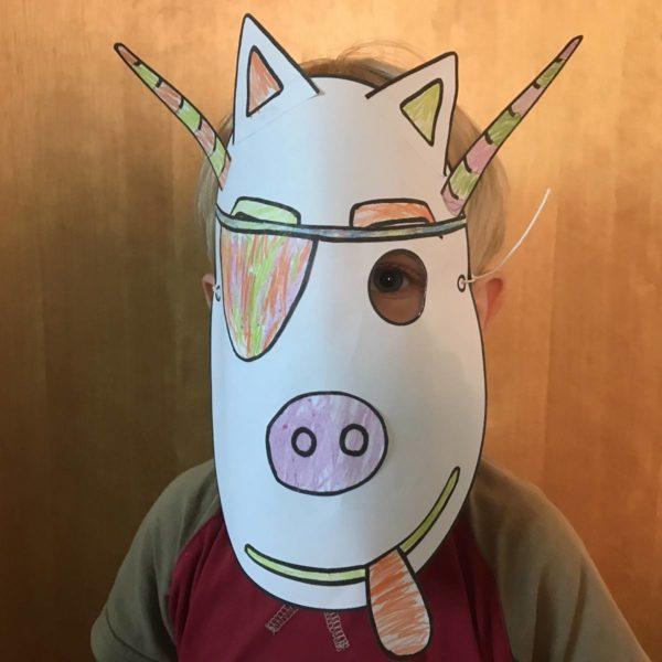 Kostenlose Vorlagen für Masken zum Kindergeburtstag