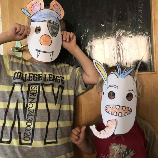 Masken zum Kindergeburtstag basteln