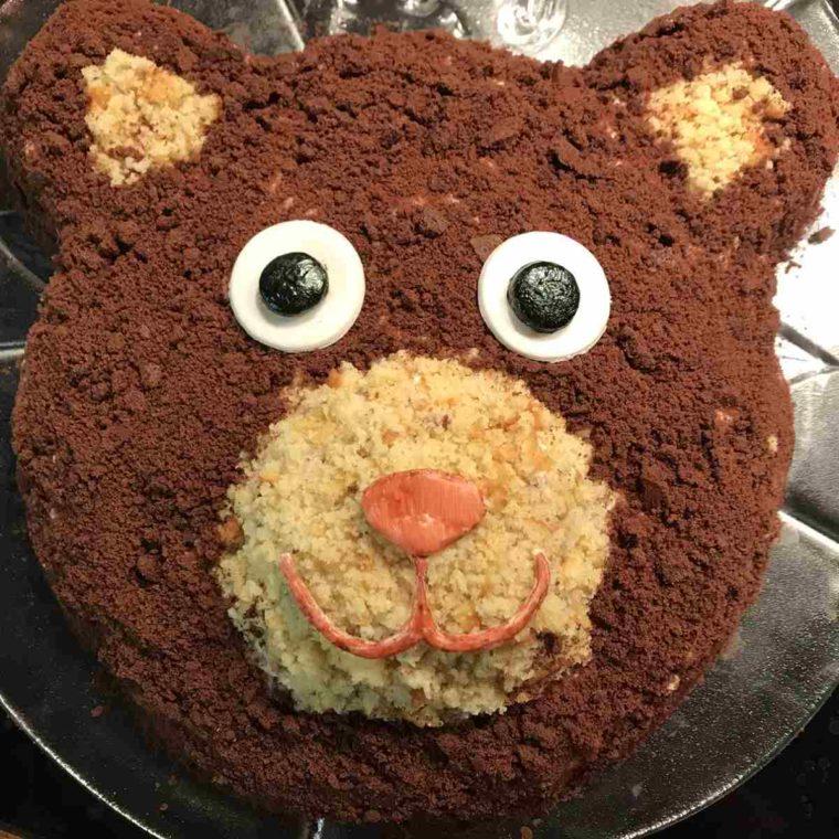 Motivtorte Bär zum Kindergeburtstag