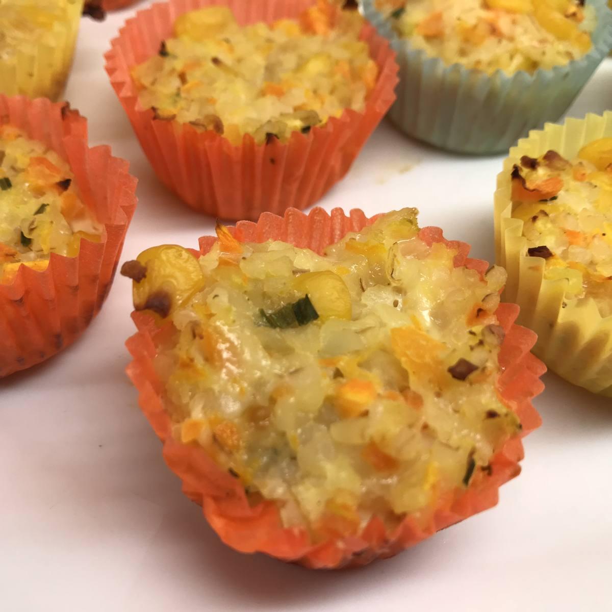 Bulgur-Gemüse-Muffins – herzhafter Partysnack