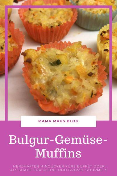 Rezept für Bulgur-Gemüse-Muffins als leckerer Snack für zwischendurch oder als Hingucker auf dem nächsten Buffet #Rezept #Bulgur #Muffins #herzhaft #Buffet #Snack #vegan