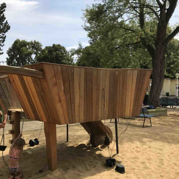 Neu gestalteter Spielplatz auf der EGA