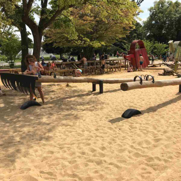 Herrlicher Spielplatz der Erfurter Garten Ausstellung