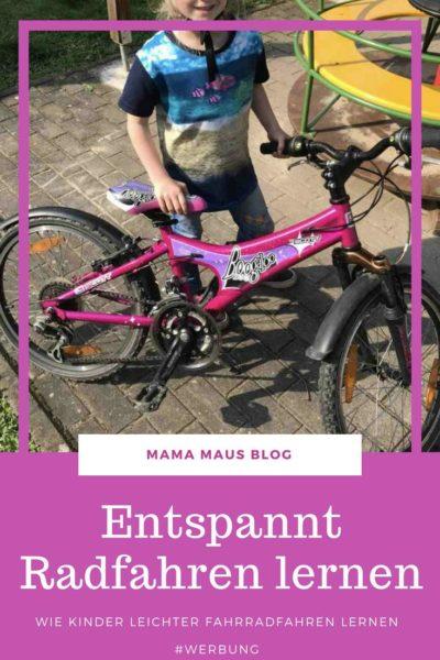 Werbung - Entspannt Radfahren lernen - Wie Kinder leichter Fahrradfahren lernen #fahrradfahrenlernen #radfahrenlernen #fahrrad #kinder