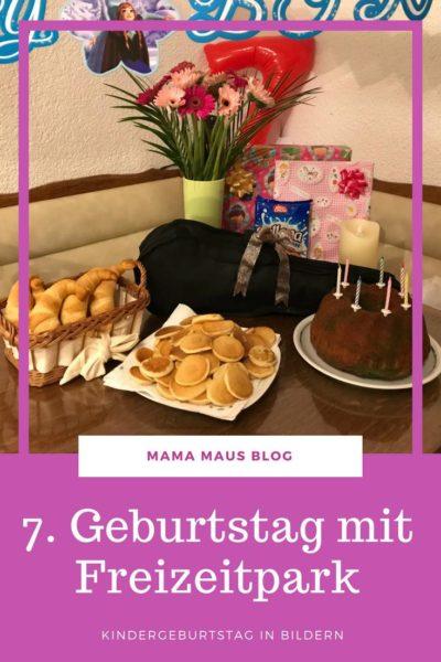 Der 7. Geburtstag der Kaisermotte mit traditionellem Geburtstagstisch und einem Besuch im Freizeitland Geiselwind #Freizeitpark #Geburtstag #Kindergeburtstag #Geburtstagskuchen