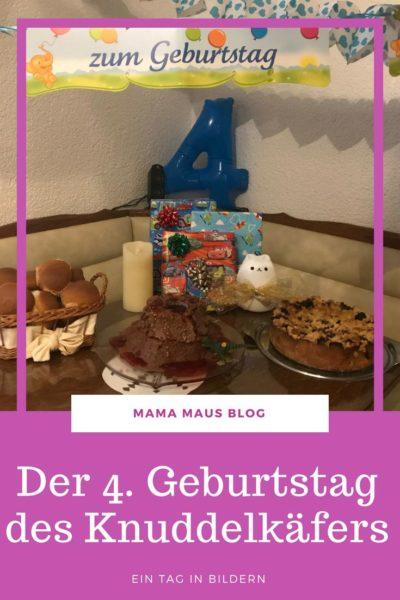 Der 4. Geburtstag des Knuddelkäfers - Ein Tag in Bildern, mit Geburtstagstorte, Kuchen, Geschenken, Familienfeier und Pool #Geburtstag #Kindergeburtstag #feiern