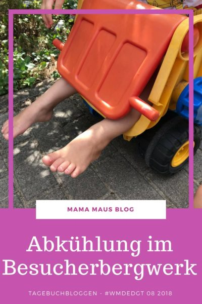 Tagebuchbloggen im August 2018 - WMDEDGT 08 2018 - Spaß im Garten, Abkühlung im Besucherbergwerk und Eis essen #wmdedgt #Familienalltag #Großfamilie
