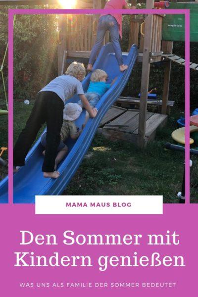 Wie wir den Sommer mit den Kindern genießen. #Großfamilie #Familienleben #AlltagmitKindern #Sommer
