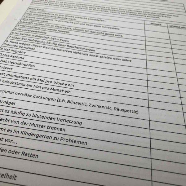 U8 Untersuchung Kinderarzt Fragebogen