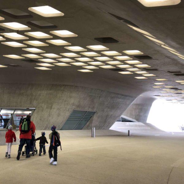 Phaeno Wolfsburg beeindruckende Architektur