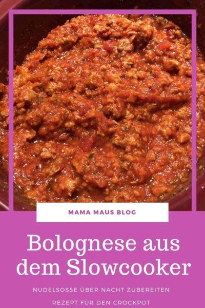 Rezept für Bolognese über Nacht, Nudelsoße mit dem Slowcooker zubereitet, aromatisch und perfekt durchgezogen #Rezept #Slowcooker #Crockpot #Nudeln #Pasta