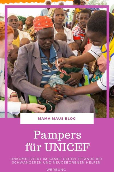 Werbung - Pampers für UNICEF - 1 Packung = 1 lebensrettende Impfdosis