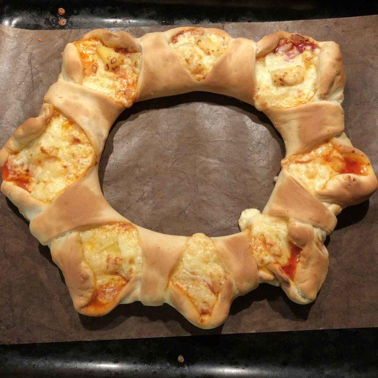 Rezept für Pizza-Ring ruck-zuck ohne Gehzeit